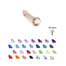 Surgical Steel Nose Bone Stud Ring 1.5mm Micro Gem 20G