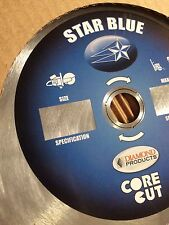 16 x 125 Blue Star Diamond Products Blade Core Cut Concrete General Masonry
