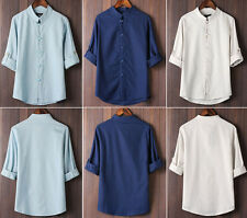 Men's summer short-sleeved shirt collar Tang suit cotton commoner Chinese style