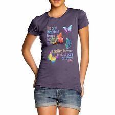 Twisted Envy Women's Best Thing About Being A Beautiful Butterfly T-Shirt