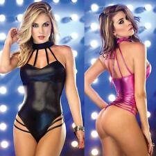 Jumpsuits Night Clubwear Stripper Patent Leather Adult Party Women Sexy Lingerie