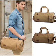 Men Women Canvas Gym Bag Handbag Shoulder Bag Daypack Messenger Bag Luggage New