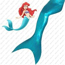 New Kid Girl Adult Women Sparkle Scale Mermaid Tail Monofin Swimmable Light Blue