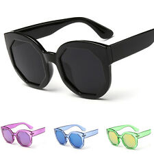 Women's Retro UV400 Mirrored Lens Sunglasses Outdoor Eyewear Eye Glasses Fashion