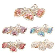 Fashion Full Colorful Rhinestone Butterfly hair barrette clip Hairpin Clamp
