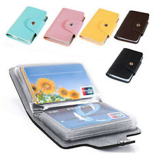 New 24 Cards Pu Leather Credit ID Business Card Holder Pocket Wallet Hot