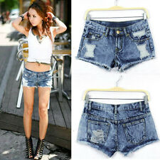Sexy Women Summer Fashion Vintage Denim Low Waist Jean Casual Shorts Hot Pants