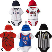 Kids Baby Summer Casual Sport  Basketball Style Bodysuit Playsuit 0-12 Months