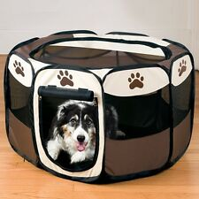 New Foldable Pet Dog Puppy Playpen Kennel Oxford Tent Fence Exercise Pen Cage