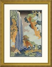 Global Gallery 'Ono Waterfall, The Kiso Highway' by Hokusai Framed Graphic Art