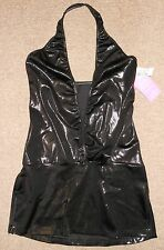 Motionwear Metallic Black Dance Halter Top Costume Competition Shirt 8799 Ad M