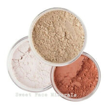 3 PIECE KIT Mineral Makeup Set Sheer Powder Foundation Bare Skin Cover Blush