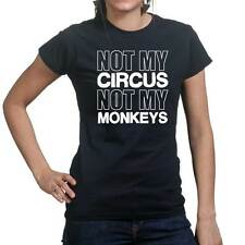 Circus Monkeys Funny Joke Sarcastic Slogan Gift Ladies T shirt Tee Top T-shirt