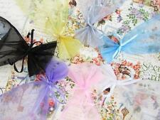 """100 Pearl Bead Organza Gift Bags 4x6"""" Wedding Favors Pouch/Party/7 Colors PO-2"""