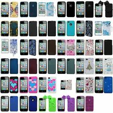Color Rubberized Hard Snap-On Case Cover Skin For iPhone 4 4G 4S Gen Accessory