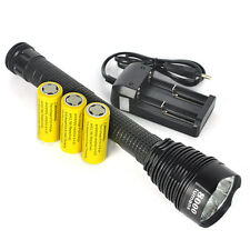 8000LM 7XXM-L T6 LED Super Power Flashlight Torch Lamp 3X18650+Charger