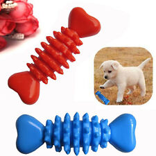 Pet Toys Resistant To Bite Cute Bone Size S-M Dog Puppy Molars Rubber Ball Play