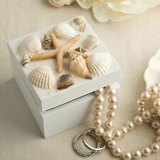 6 X Natural Sea Shell Jewellery Trinket Box Wedding & Party Favors Gifts