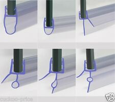 CURVED BATH SHOWER SCREEN RUBBER PLASTIC SEAL For 4-6mm GLASS DOOR ENCLOSURE