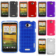 For HTC One X S720e X+ AT&T Colorful Argyle Transparent Gel TPU Case Cover Skin