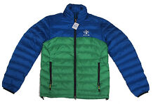 Polo Ralph Lauren Mens RLX Blue Green Down Feather Mock Neck Zip Jacket Coat