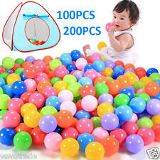 200/100pcs 7 Colors Marine Ball Fun Soft Plastic Ocean Ball Baby Kid Pit Toy