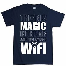 Magic WiFi LiFi Funny Geek Nerd Big Bang Theory New Mens Sheldon T shirt