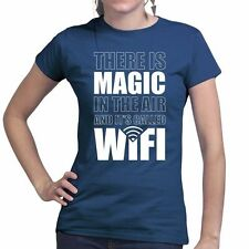 Magic WiFi LiFi Funny Geek Nerd Big Bang Theory New Ladies Womens T shirt