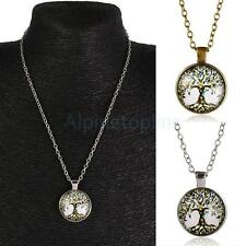 Mens Womens Tree of Life Charm Pendant Chain Necklace Fashion Jewelry Gift