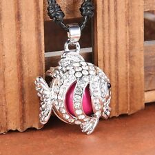 Chic Silver Sounds Bell Fish Pendant Pregnant Chime Ball Locket Necklace Jewelry