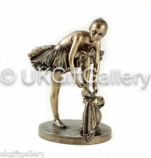 Lovely Bronze Ballerina Figurine Ornament in Bronzed Finish by Veronese Studio