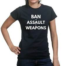 Ban Assault Weapons AR15 AK47 Rifle Sling Ladies T shirt Tee Top T-shirt
