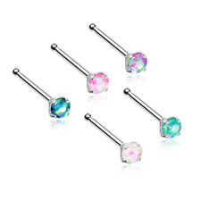 316L Surgical Steel Nose Bone Choose Your Color 3mm Opal CZ Nose Stud Ring 20G