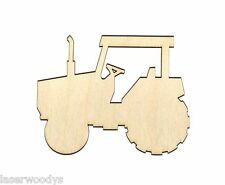 Tractor Unfinished Wood Shape Cut Out T775 Laser Crafts Lindahl Woodcrafts