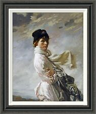 Global Gallery 'In Dublin Bay' by Sir William Orpen Framed Painting Print