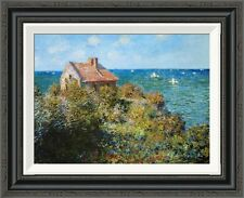 Global Gallery 'Fishermans Cottage' by Claude Monet Framed Painting Print