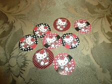 Pre Cut One Inch HELLO KITTY ATLANTA FALCONS Bottle Cap Images! FREE SHIP