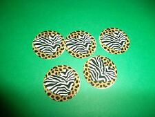 Pre Cut One Inch ZEBRA HEARTS LEOPARD PRINT Bottle Cap Images! FREE SHIP