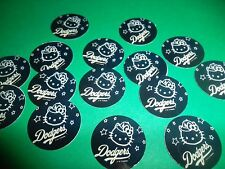 Pre Cut One Inch HELLO KITTY DODGERS Bottle Cap Images! FREE SHIP