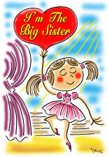 BIG SISTER T-SHIRT-BALLERINA DESIGN BY ED SEEMAN- FREE CUSTOMIZING
