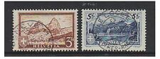 Switzerland - 1928/31, 3f & 5f stamps - G/U - SG 335/6