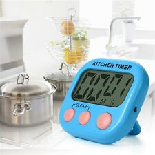 New Digital Kitchen Timer Cooking Timers Clock w/ Alarm Magnetic Back Stand