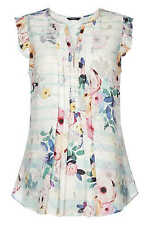 Roman Originals Women?s Floral Printed Frill Sleeve Top Sizes 10-20