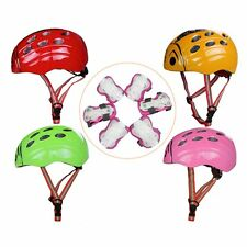New Cute Ladybug Helmet Kids Child Elbow Knee Wrist Pads Multi Size/Color 7Pcs