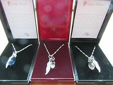 UNIQUE LOSS OF BABY MISCARRIAGE CRYSTAL ANGEL WING FEATHER PENDANT NECKLACE - FP