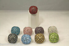 Ladies Indian Bollywood Party Costume Crystal Diamante Jewellery Finger Ring