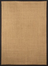 Black Sisal Seagrass Area Rug Bordered Natural Fiber Casual Accent Carpet Rugs