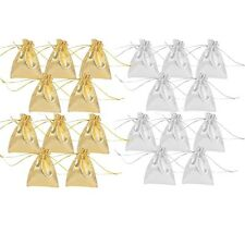 10x Organza Gift Bags Jewelry packing Pouches Wedding Party Favor GOLD or SILVER