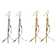 Charm Women Noble Hook Long Tassel Dangle Party Earrings Ear Drop Jewelry Gift