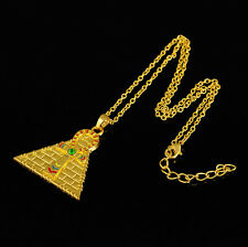 Egyptian Vintage Fashion Ankh Cross pyramid Symbol Of Life Pendant Necklace New